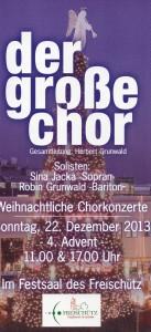 Flyer Großer Chor 2013
