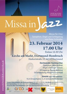 Plakat Missa in Jazz