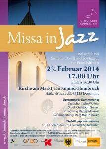Plakat Missa in Jazz