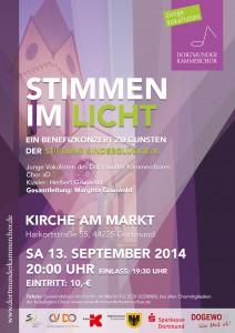 Plakat Stimmen im Licht