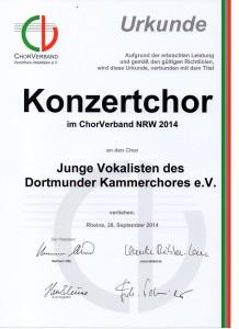 Urkunde  Konzertchor JuVos069