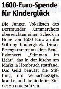 Ruhr Nachrichten 27.1.2015